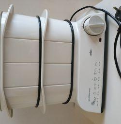 Κουζίνα ρυζιού διπλού λέβητα Braun FS20 MultiGourmet