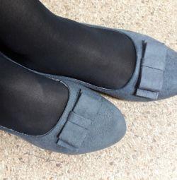 Kadife Bale Ayakkabıları