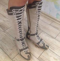 Puma boots 37-37,5 natur.kozha / suede original