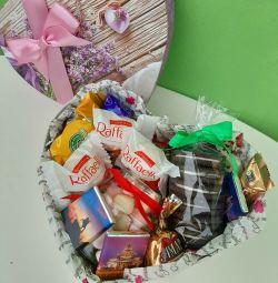 Подарок сладкое сердечко