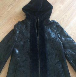 Μπουφάν από παλτό από δέρμα προβάτου