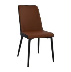 HM8113.03 DINING CHAIR IN BROWN BLACK AND WITH