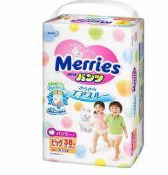 Diapers shorts Merries XL 12-22 kg 38 pcs