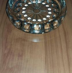 Absolutely new crystal ashtray USSR