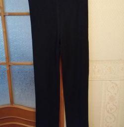 Pantaloni viscoză + elastan