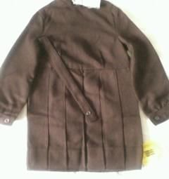 School dress brown new 116-56 woolen