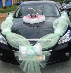 Свадебная лента на автомобиль