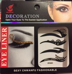 Decorative stickers for makeup