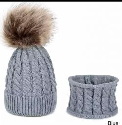 Hat with a snood