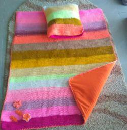 Детское покрывало с подушкой