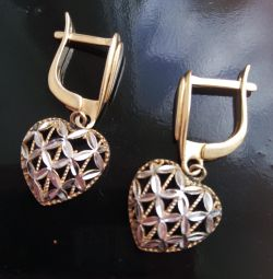 earrings gold with white gold