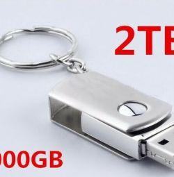 @ 2 tb USB 2.0 Stalevar Silver flash drive USB flash drive