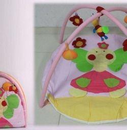 Коврики для младенцев с подвеской и погремушками
