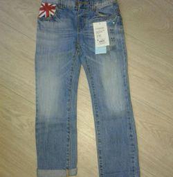Jeans new, р.110-116 cm.