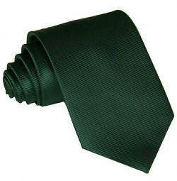 Wide emerald tie with striped texture
