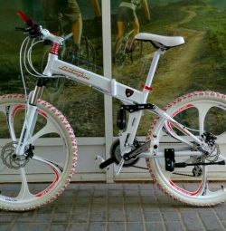 Fashionable Lamborghini bicycle on white cast wheels