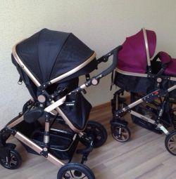 Stoktaki 2v1 doğumlu bebek arabası