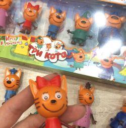 Набір іграшок три кота