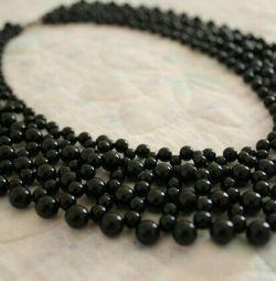 Плетений накладної комірець чорний