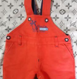 Красные шорты для модника. Размер 68