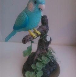 Статуэтка поющий попугай