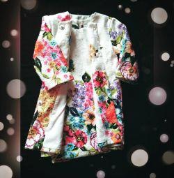 Комплект двойка ( платье+пиджак)