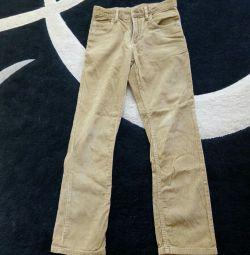 pantaloni de catifea cord