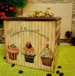 Box kitchen decoupage tableware gift