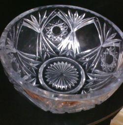 Salad big, crystal / glass