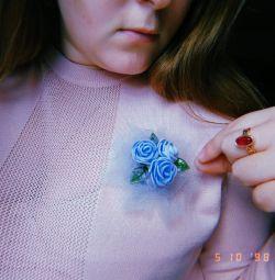 Broșă cu flori 💐