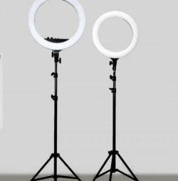 40 cm halka şeklinde lamba, tripodlu 2 metre yeni