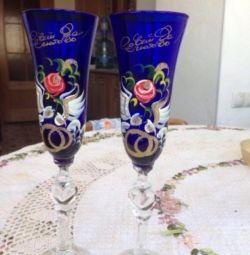 Düğün şarap kadehi
