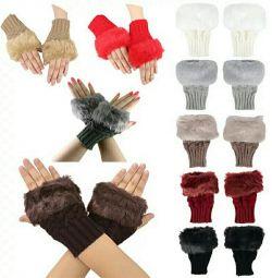 Νέα γάντια με γούνα ...
