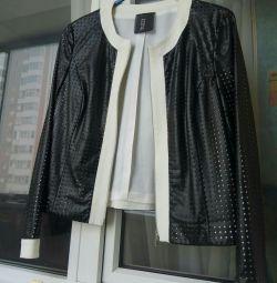 Jacket suit leather. R.48