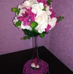 Bouquet in a vase for the interior (handmade)