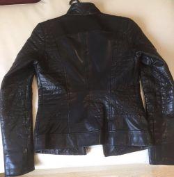 Leather natural female jacket. Sale!