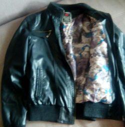 Black leather jacket 42-44