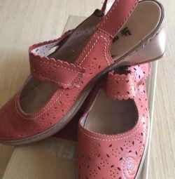 Γυναικεία παπούτσια Μαύρο δέρμα