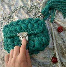 Handbag knitted
