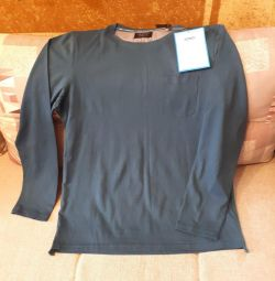 T-shirt - blazer with long sleeves