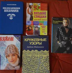 Books on knitting, sewing, needlework