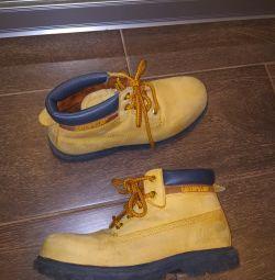 Shoes for the boy in the fall spring.