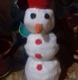 Χειροποίητος χιονάνθρωπος!