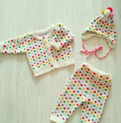 Ρούχα 6-18 μήνες ζεστό για ένα κορίτσι
