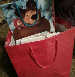 Подарочные пакеты 30 шт