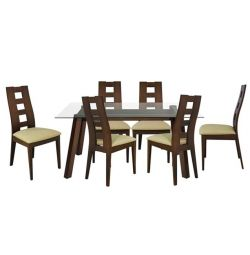 TABLE SET 7MM TABLE 150X90 & 6 CHAIRS H