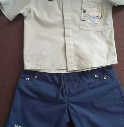 Summer costume for a boy.