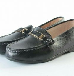 Women's moccasins (genuine leather)