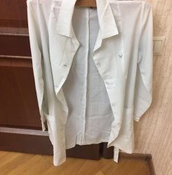 White medical gown