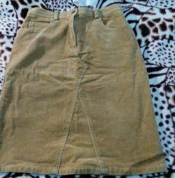 Corduroy skirt.